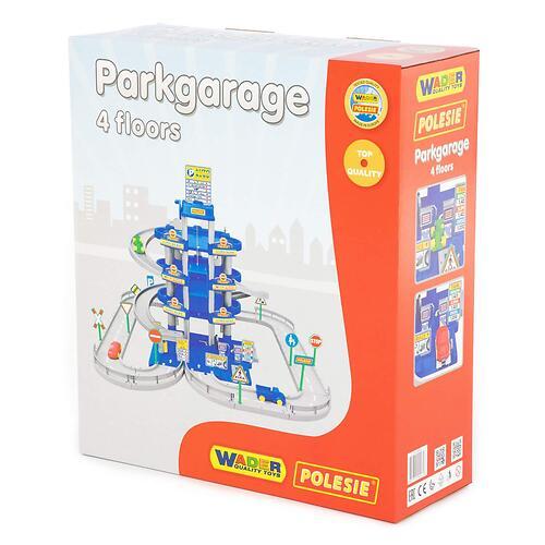 Паркинг Полесье 4-уровневый с дорогой и автомобилями (синий) (в коробке) (8)