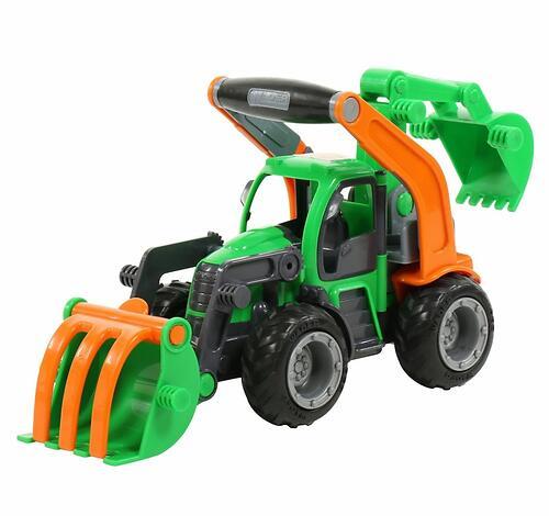 Трактор-погрузчик Полесье ГрипТрак с ковшом (в сеточке) (7)