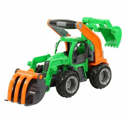 Трактор-погрузчик Полесье ГрипТрак с ковшом (в сеточке) (8)