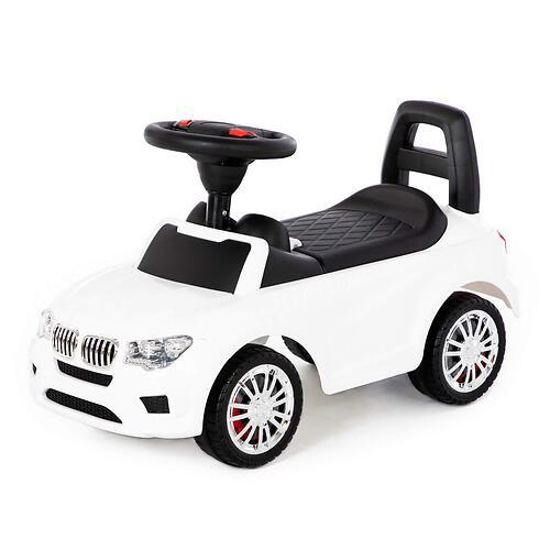 Каталка-автомобиль Полесье SuperCar №5 со звуковыми сигналом Белая (5)