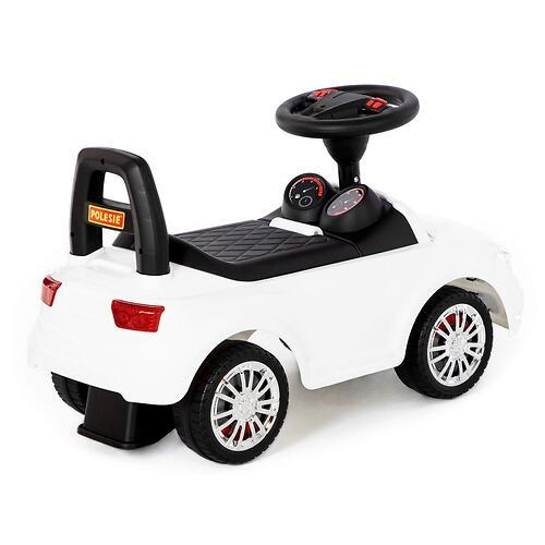 Каталка-автомобиль Полесье SuperCar №5 со звуковыми сигналом Белая (7)