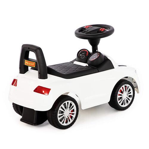 Каталка-автомобиль Полесье SuperCar №2 со звуковыми сигналом Белая (7)