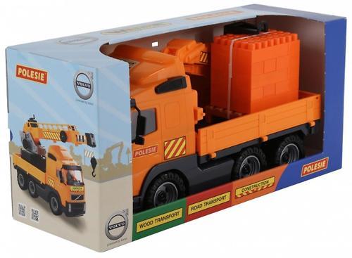 Автомобиль-кран Полесье Volvo с манипулятором + Конструктор Супер-Микс 30 элементов (8)