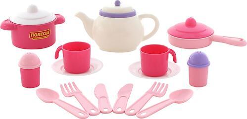 Набор детской посуды Полесье Настенька на 2 персоны 18 элементов (1)