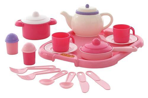 Набор детской посуды Полесье Настенька с подносом на 2 персоны 19 элементов (1)