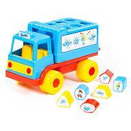 Логический грузовичок Полесье Смурфики с 6 кубиками №1
