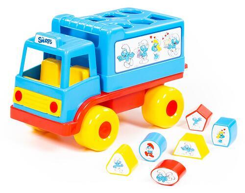 Логический грузовичок Полесье Смурфики с 6 кубиками №1 (1)