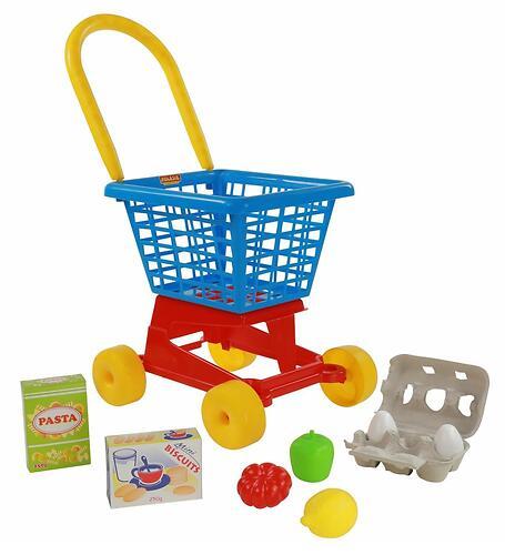 Тележка Полесье Supermarket №1 + набор продуктов №2 (3)