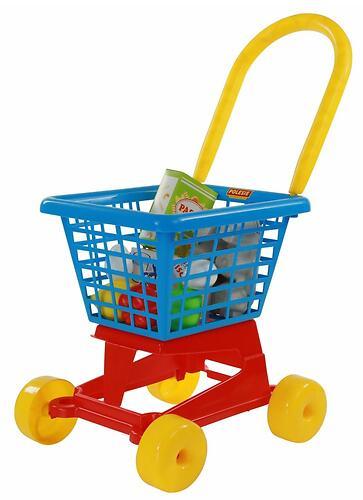 Тележка Полесье Supermarket №1 + набор продуктов №2 (4)