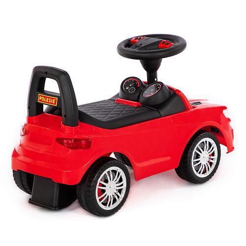 Каталка-автомобиль Полесье SuperCar №6 со звуковыми сигналом Красная (5)