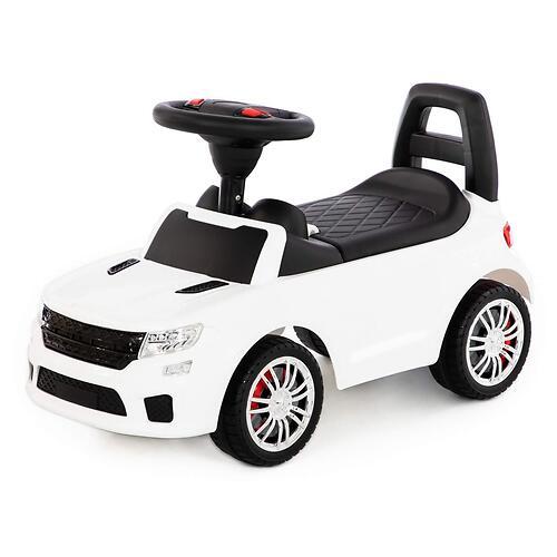 Каталка-автомобиль Полесье SuperCar №6 со звуковыми сигналом Белая (3)