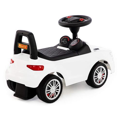 Каталка-автомобиль Полесье SuperCar №6 со звуковыми сигналом Белая (4)