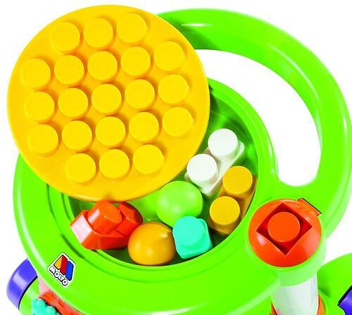 Каталка Полесье игровая с конструктором (13 элементов) в коробке (зелёная) (7)