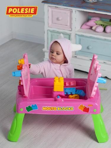 Набор Полесье игровой с конструктором (20 элементов) в коробке (розовый) (19)