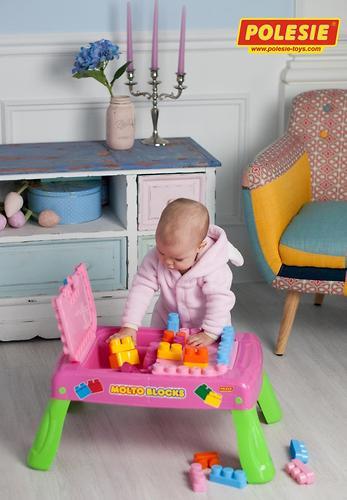 Набор Полесье игровой с конструктором (20 элементов) в коробке (розовый) (17)