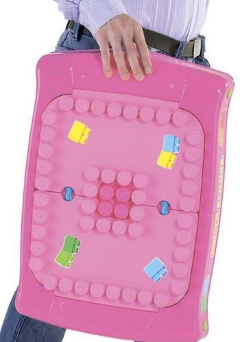 Набор Полесье игровой с конструктором (20 элементов) в коробке (розовый) (16)
