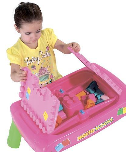 Набор Полесье игровой с конструктором (20 элементов) в коробке (розовый) (13)