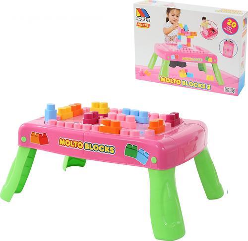 Набор Полесье игровой с конструктором (20 элементов) в коробке (розовый) (11)