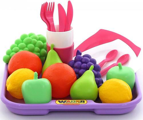 Набор продуктов с посудкой и подносом Полесье 21 элемент (3)