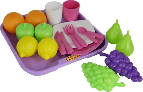 Набор продуктов с посудкой и подносом Полесье 21 элемент (4)