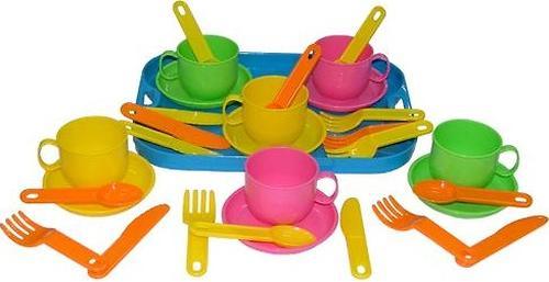 Набор детской посуды Полесье Минутка с подносом на 6 персон (3)