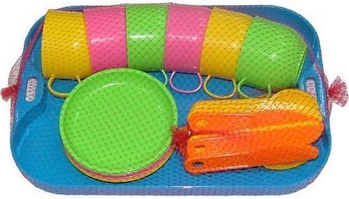 Набор детской посуды Полесье Минутка с подносом на 6 персон (4)