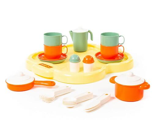 Набор детской посуды Полесье Янина с подносом на 4 персоны 4060 (3)