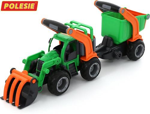 Трактор-погрузчик с полуприцепом Полесье ГрипТрак (в коробке) (5)