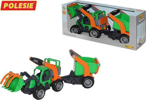 Трактор-погрузчик с полуприцепом Полесье ГрипТрак (в коробке) (7)