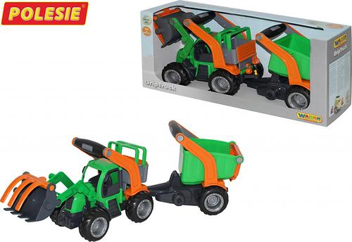 Трактор-погрузчик с полуприцепом Полесье ГрипТрак (в коробке) (6)