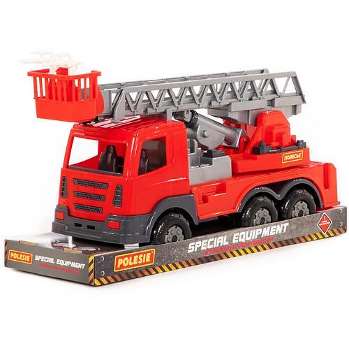 Автомобиль пожарный Полесье Престиж в лотке (5)