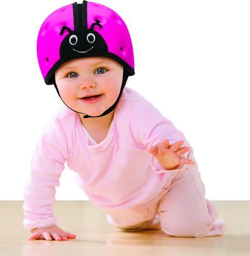 Мягкая шапка-шлем для защиты головы SafeheadBABY Божья коровка Синяя (14)