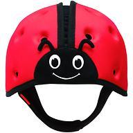 Мягкая шапка-шлем для защиты головы SafeheadBABY Божья коровка Красная