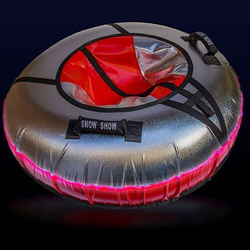 Тюбинг SnowShow Sport Light с подсветкой Красный (5)