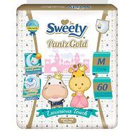 Трусики Sweety Pantz GOLD Size M 7-12 кг 60 шт