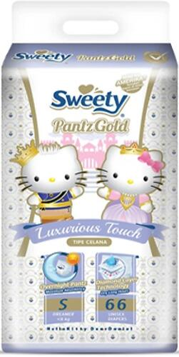 Трусики Sweety Pantz GOLD Size S 3-6 кг 66 шт (1)