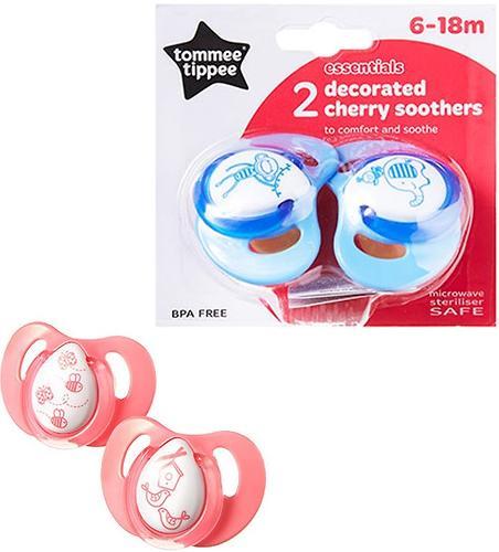 Пустышка Tommee Tippee латексная Cherry 6-18 мес (1)