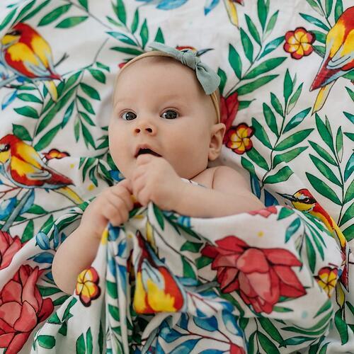 Муслиновая пеленка Tommy Lise Blooming Day 120х120см (4)