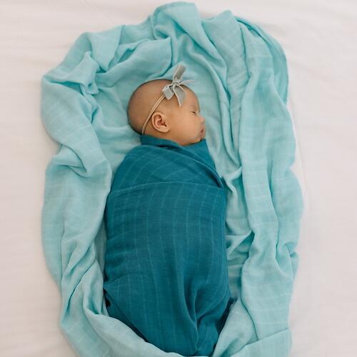 Муслиновая пеленка Tommy Lise Foggy Blue 120х120см (3)