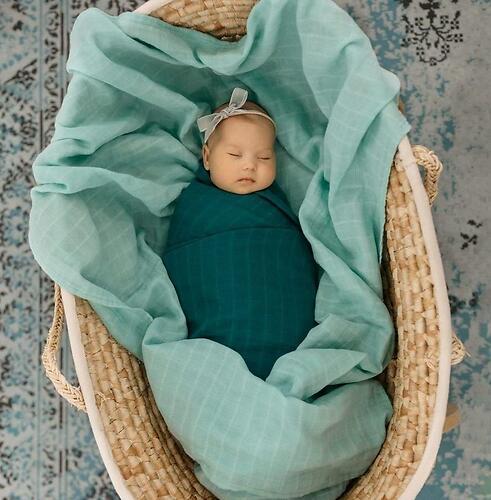 Муслиновая пеленка Tommy Lise Mangrove Green 120х120см (3)