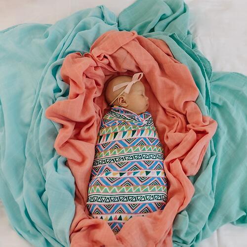Муслиновая пеленка Tommy Lise Ethnic Festive 120х120см (4)