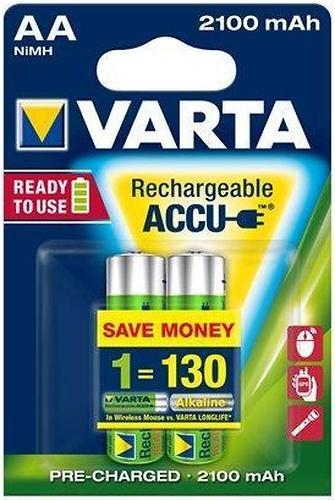 Аккумулятор Varta R2U Mignon 2100mAh 1.2V-HR6/AA (2шт) (1)
