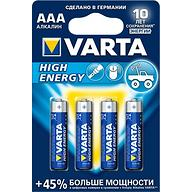 Батарейка Varta High Energy Micro 1.5V - LR03/ AAA (4шт)