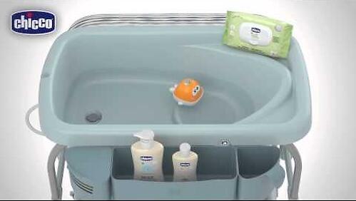 Столик для пеленания+ванночка Chicco Cuddle-Bubble Ocean (20)