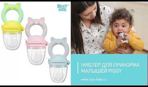 Ниблер для прикорма Roxy Kids Piggy с силиконовой сеточкой Розовый (16)