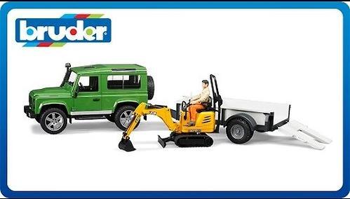 Bruder внедорожник c прицепом и экскаватором 8010 CTS Land Rover Defender (6)