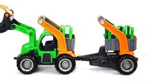Трактор-погрузчик с полуприцепом Полесье ГрипТрак (в коробке) (8)