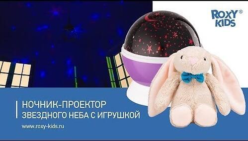 Ночник-проектор звездного неба Roxy Kids с игрушкой Little Owl Розовый + плюшевая Сова (10)