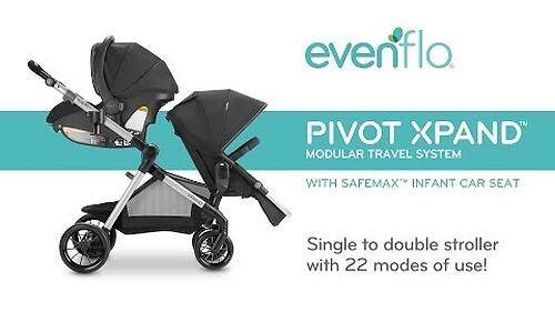 Коляска для двойни Evenflo Pivot Xpand (34)