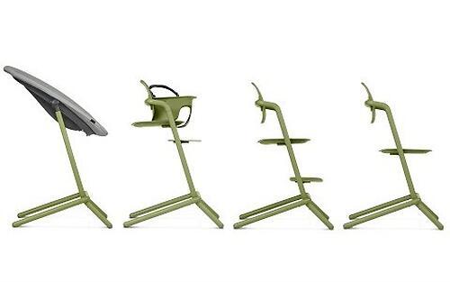 Стульчик Cybex Lemo Outback Green со столиком Lemo Tray и модулем Lemo Baby Set Outback (22)